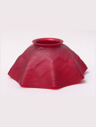 Red candlelamp shade