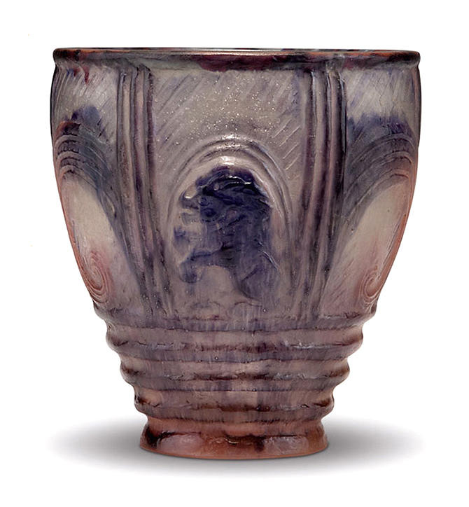 Lion And Owl Vase