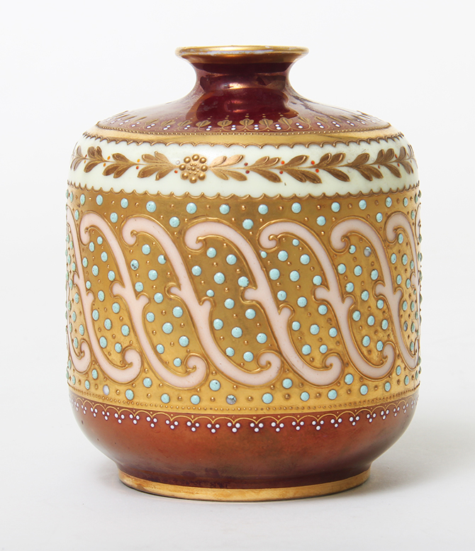 German Portrait Vase