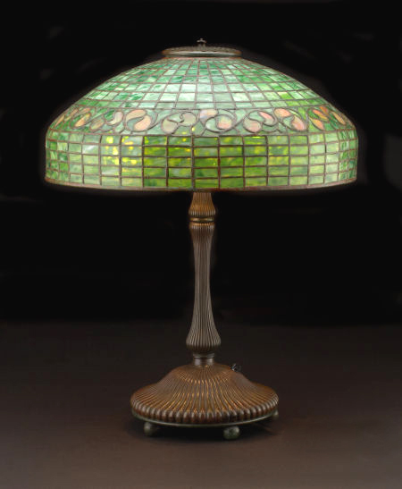 Tiffany studios turtleback swivel desk lamp 18 lemon leaf lamp 18 lemon leaf aloadofball Image collections