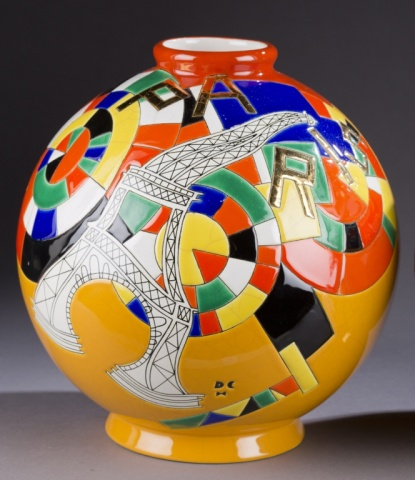 Longwy <I>Paris</i> Vase