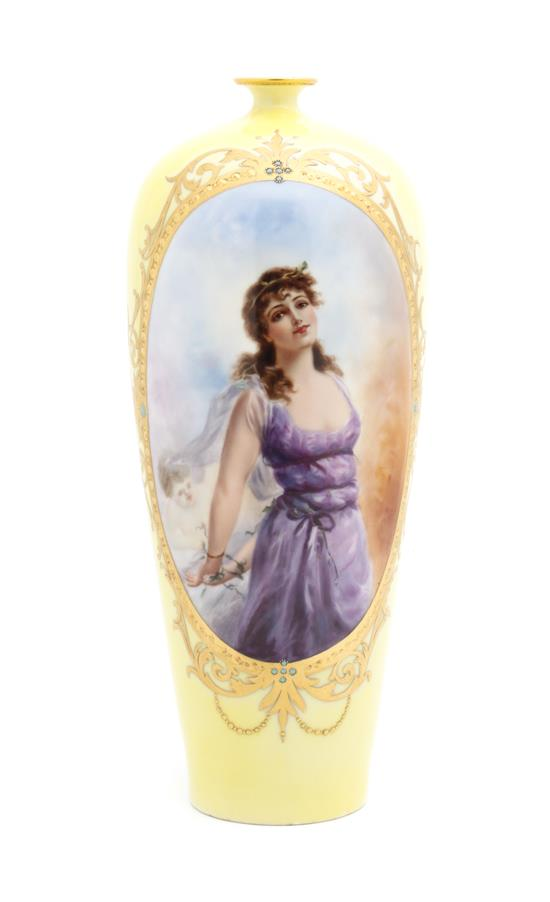 Other Makers, Limoges portrait vase