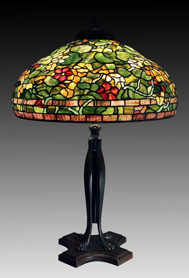 lamps tiffany studios 22 nasturtium. Black Bedroom Furniture Sets. Home Design Ideas