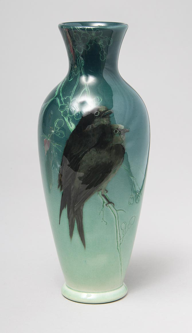 Sea Green Sparrow Vase