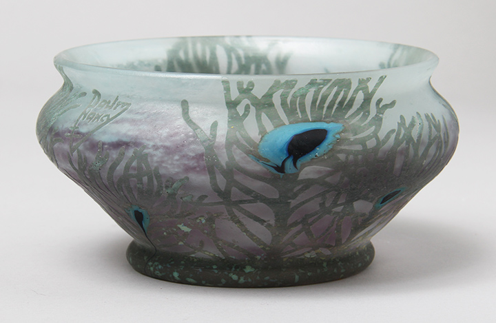 Peacock Feather Bowl