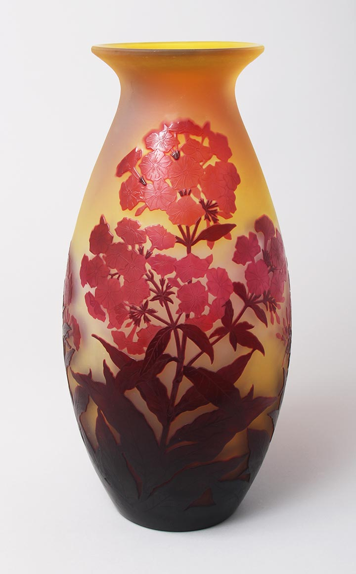 Chasenantiques french glass gall galle monumental red phlox vase reviewsmspy