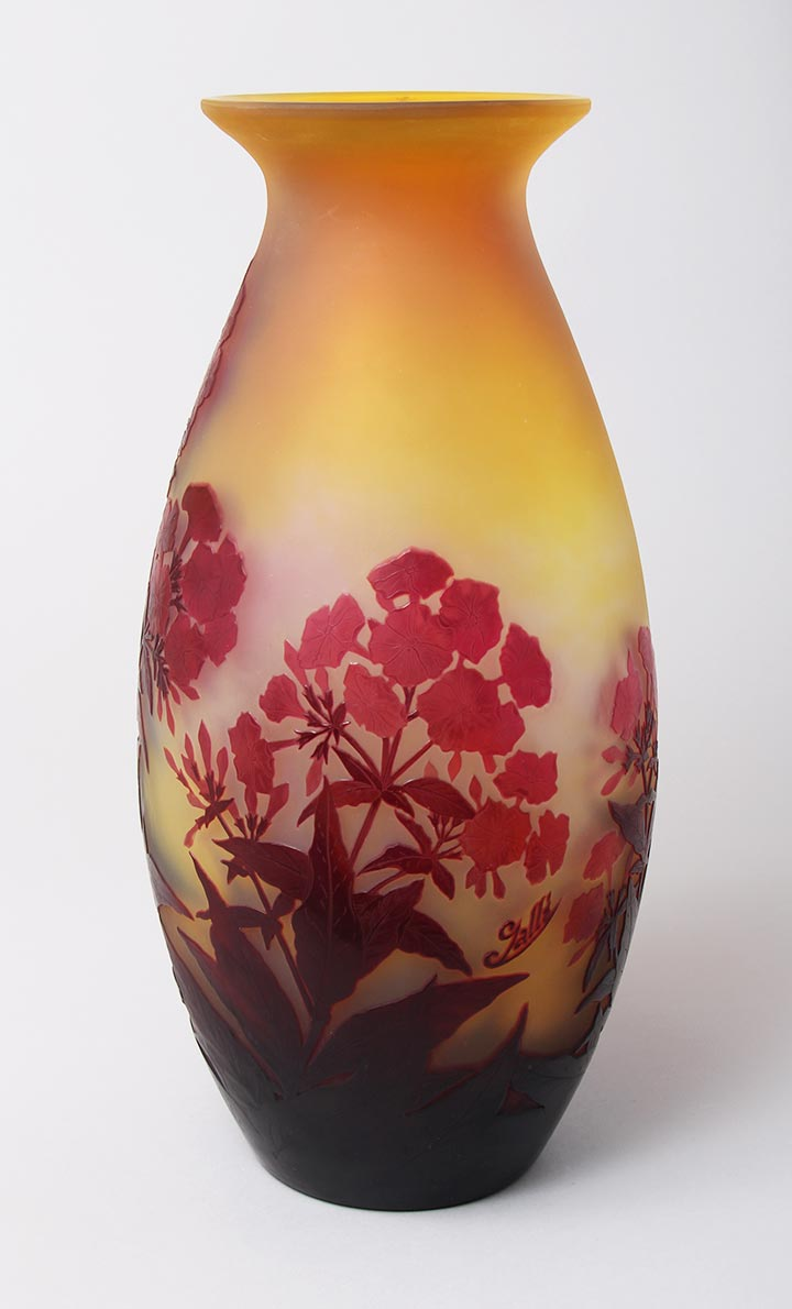 Monumental Red Phlox Vase