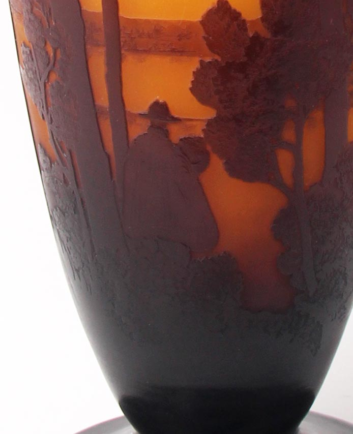 Scenic Vase With A Person