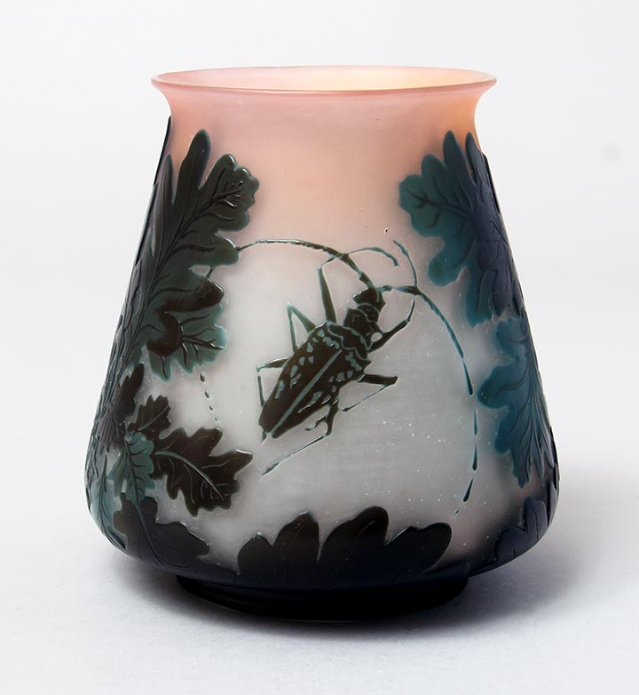 Oak Leaves & Beetle Vase