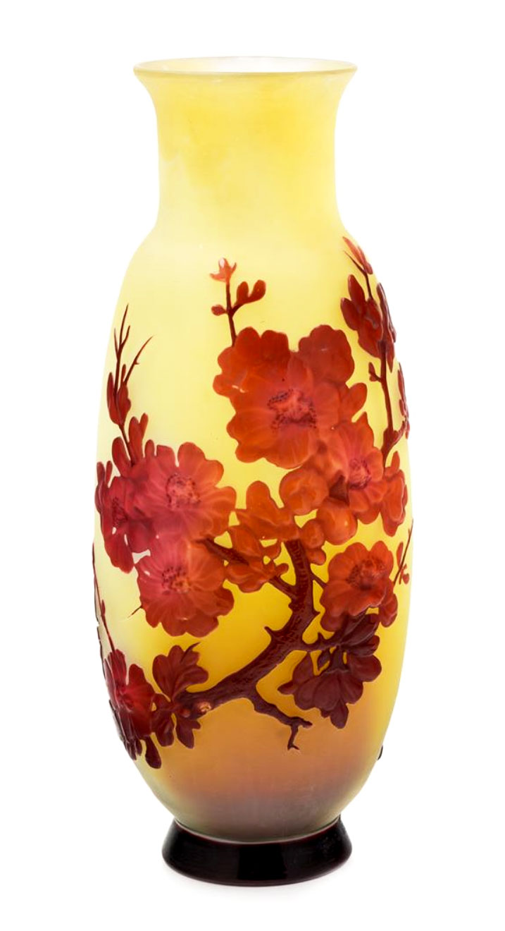 Apple Blossom Blownout Vase
