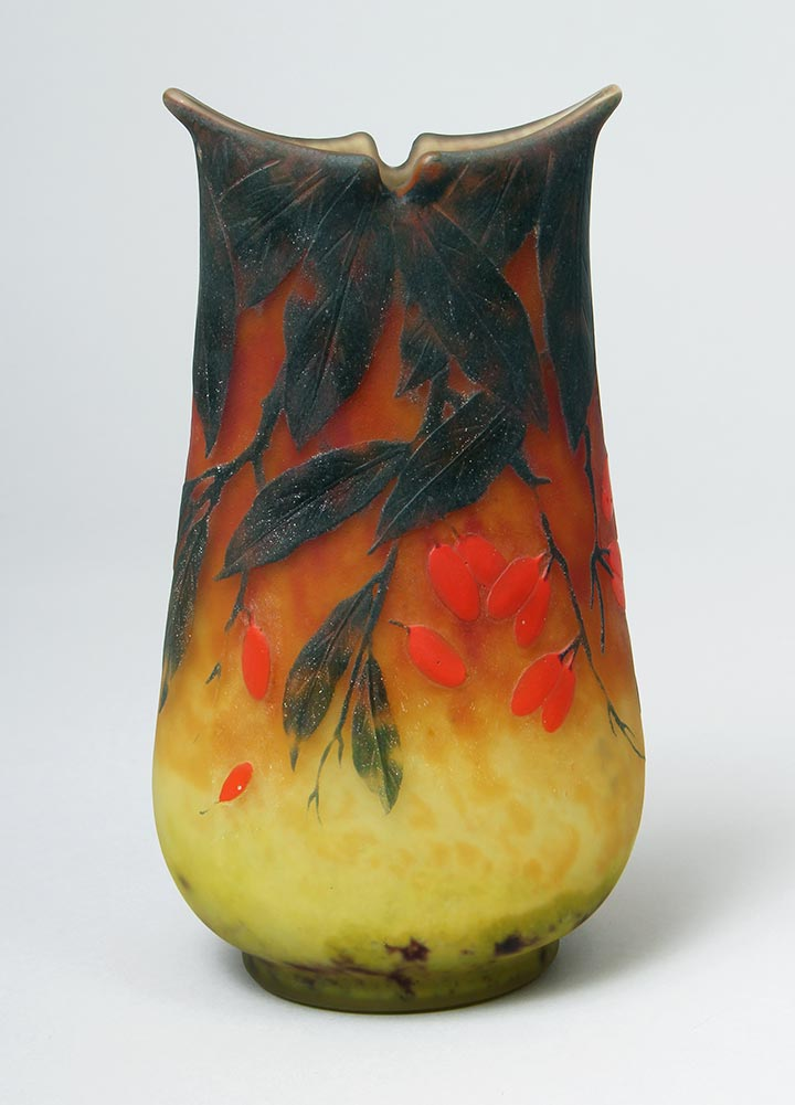 Applied Fruit Vase