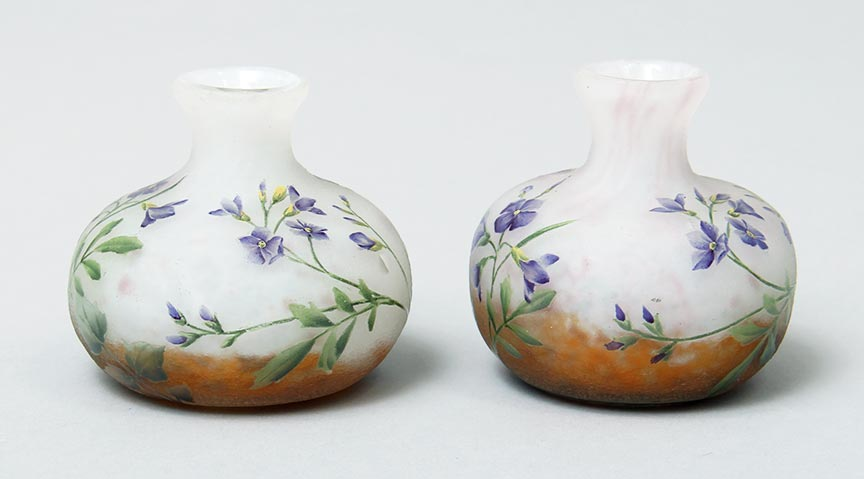 Pair Of African Violets Vases