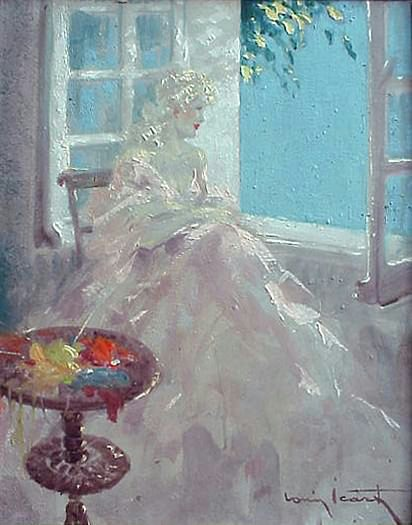 Paintings louis icart for Fenetre ouverte