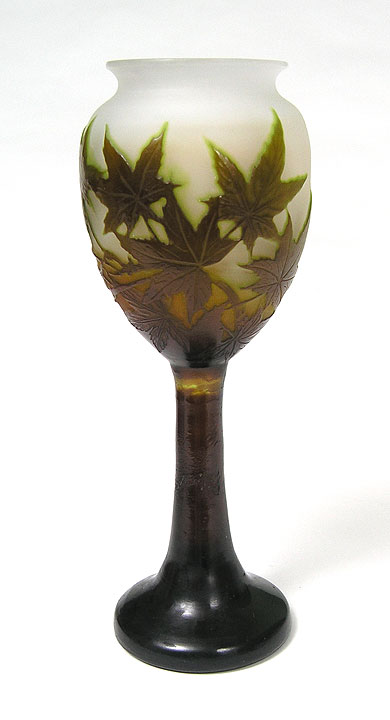 Chasenantiques Com French Glass Gall 233 Galle Maple